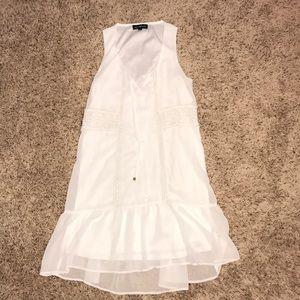 White bohemian long dress